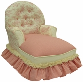 Toile Pink Child Queen Anne Chaise Lounge