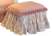 Toile Pink Child Toybox Ottoman