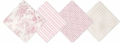 Toile Pink Diaper Stacker