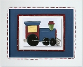 Train Custom Framed Giclee Print