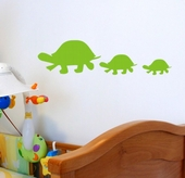 Turtle Family Custom Wall Decal
