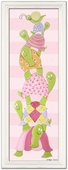 Turtle Totem on Pink Stripes Framed Giclee Print