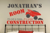 Under Construction Custom Personalized Wall Decal