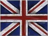 Union Jack Flag Gallery Wrapped Stretched Giclee Canvas