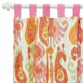 Urban Ikat in Fuchsia Curtain Panel Set