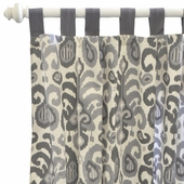 Urban Ikat in Gray Curtain Panel Set