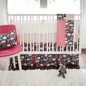Urban Zoo in Pink 2-Piece Crib Bedding Set