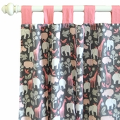 Urban Zoo in Pink Curtain Panel Set