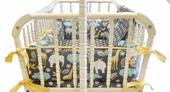 Urban Zoology 2-Piece Cradle Bedding Set
