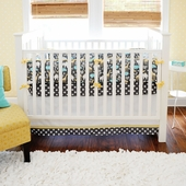 Urban Zoology 2-Piece Crib Bedding Set