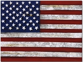 US Flag Gallery Wrapped Stretched Giclee Canvas