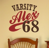 Varsity Custom Personalized Wall Decal