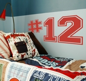 Varsity Numbers Custom Wall Decal