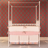 Venetian 3 in 1 Crib in Distressed White