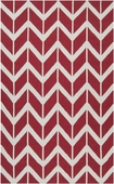 Venetian Red Chevron Fallon Hand-Woven Rug