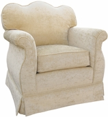 Versailles Velvet Cream Adult Empire Glider Rocker Chair - Foam or Down