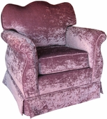Versailles Velvet Lavender Adult Empire Glider Rocker Chair - Foam or Down