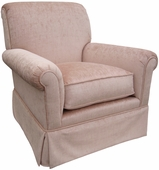 Versailles Velvet Pink Adult Regent Glider Rocker Chair - Foam or Down