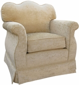 Versailles Velvet Taupe Adult Empire Glider Rocker Chair - Foam or Down