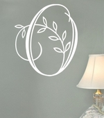 Vine Initial Custom Personalized Wall Decal