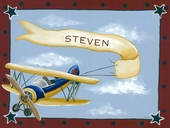 Vintage Bi-Plane Canvas Wall Art