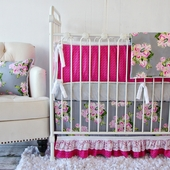 Vintage Floral Crib Bedding Set