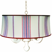 Waterline Stripe Drum Chandelier