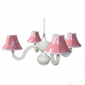 Watermelon Pagoda Four Arm Bella Spindle Chandelier