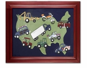 Wheels USA Framed Giclee Print