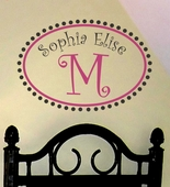 Whimsical Custom Personalized Wall Decal