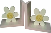 White Daisy Bookends