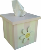 White Daisy Tissue Box Cover