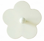 White Flower Wall Peg