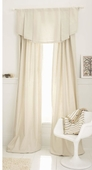 White Linen/Cotton Window Panel