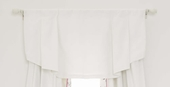 White Linen/Cotton Window Valance