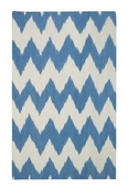 Wild Chev Rug - Medium Blue
