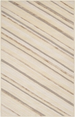 Winter Whites Diagonal Striped Candice Olson Hand-Tufted Rug