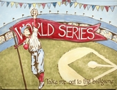 World Series Hand Painted Canvas Mural