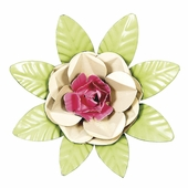 XL Flower Magnet - Tan & Bright Pink