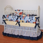 Yacht Club Crib Bedding
