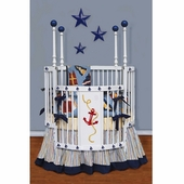 Yacht Club Round Crib Bedding