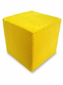 Yellow Dot Minky Foam Block