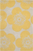 Yellow Flowers Aimee Wilder Hand-Tufted Rug