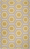 Yellow & Gray Hexagon Fallon Hand-Woven Rug