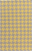 Yellow Houndstooth Frontier Hand-Woven Indoor/Outdoor Rug