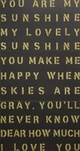 You Are My Sunshine 3-Panel Antiqued Sign