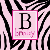 Zebra Print Personalized Canvas Wall Art