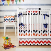 Zig Zag Rugby 2-Piece Crib Bedding Set