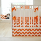 Zig Zag Tangerine 2-Piece Crib Bedding Set