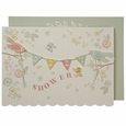 Bunting Birds Baby Shower Card